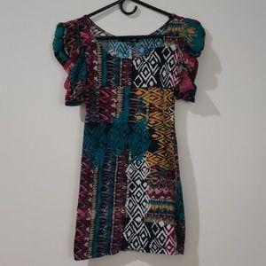 Forever 21 Tribal Print Bodycon Mini Dress Hot M